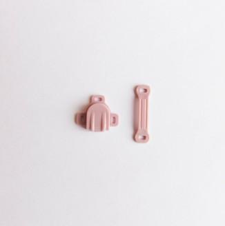 Застежка для бюстгальтера пластик (пришивная, розовый)