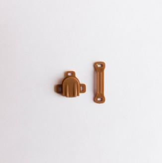 Застежка для бюстгальтера пластик (пришивная, коричневый)