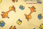 Фланель Желтый жираф