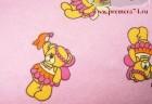 Фланель Розовый мишка