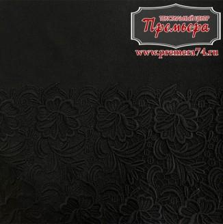Костюмная ткань плотная купон с вышивкой