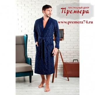 Халат мужской VIPMEN [бамбук] (синий, L/XL)