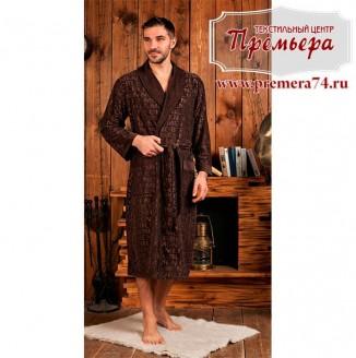 Халат мужской VIPMEN [бамбук] (шоколад, 2XL)