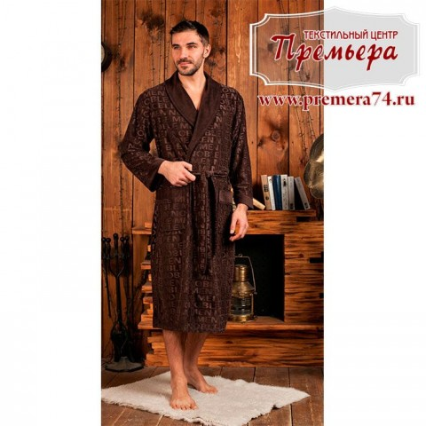 Халат мужской VIPMEN [бамбук] (шоколад, 3XL)