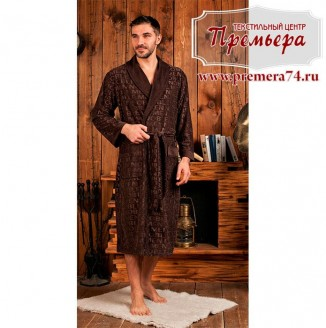 Халат мужской VIPMEN [бамбук] (шоколад, 4XL)