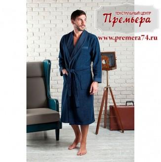 Халат мужской ALONSO [бамбук] (синий, L/XL)