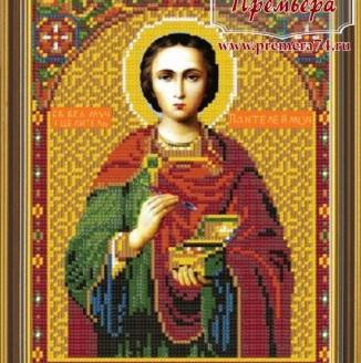 Икона из бисера Св.Вмч.и целитель Пантелеймон