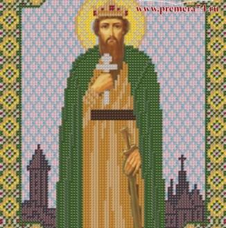 Икона из бисера Св.Кн.Вячеслав