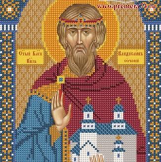 Икона из бисера Св.Князь  Владислав Сербский