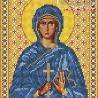 Икона из бисера Св.Прп.Мч. Евгения