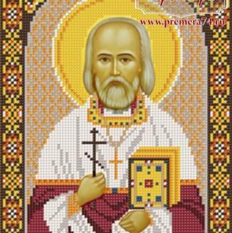 Икона из бисера Св.Свящ.Мч. Леонид