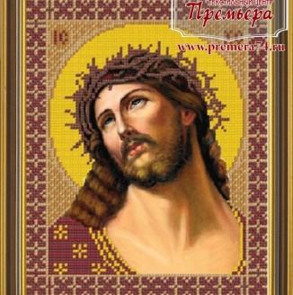 Икона из бисера Св.Спас в терновом венце