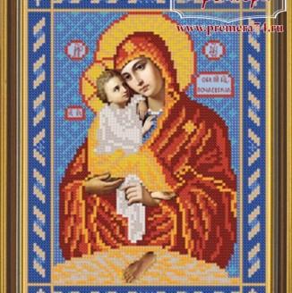 Икона из бисера Почаевская Прсв. Богородица
