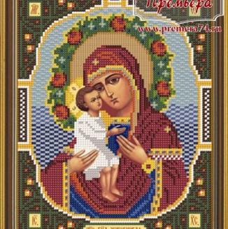 Икона из бисера Пресвятая Богородица Жировицкая