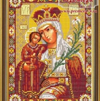 Икона из бисера Пресвятая Богородица Неувядаемый Цвет