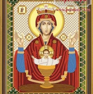 Икона из бисера Пресвятая Богородица Неупиваемая чаша