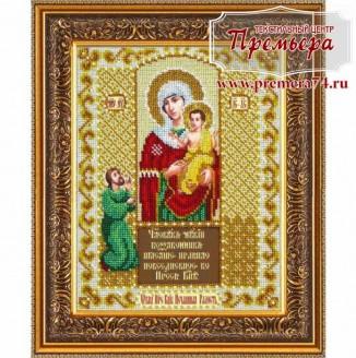 Икона из бисера Пресвятая Богородица Нечаянная радость