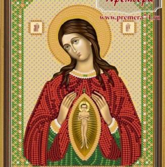 Икона из бисера Пресвятая Богородица Помошница в родах
