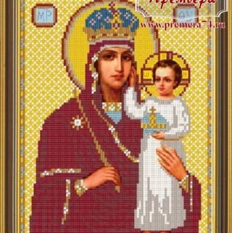 Икона из бисера Пресвятая Богородица Призри на смирение