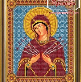 Икона из бисера Пресвятая Богородица Смягчение злых сердец