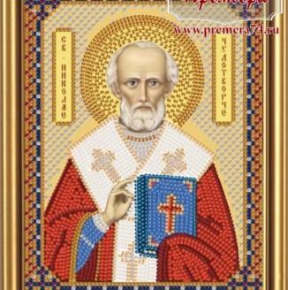 Икона из бисера Св. Николай Чудотворец
