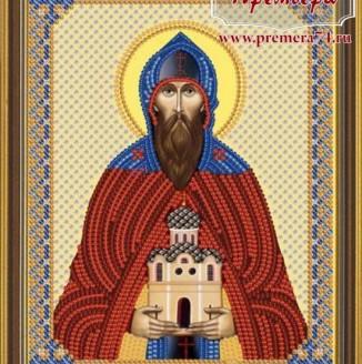 Икона из бисера Св.Блгв.князь Даниил Московский