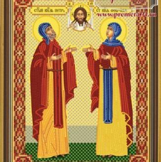 Икона из бисера Св.Блгв.Петр и Феврония