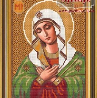 Икона из бисера Св.Богородица Умиление