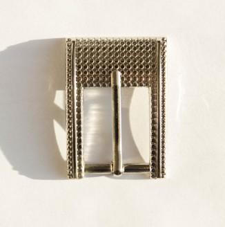 Пряжка металл (100-43, прямоугольник с рисунком, 24мм, никель)
