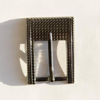 Пряжка металл (100-43, прямоугольник с рисунком, 24мм, никель темный)