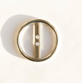 Пряжка металл (16409, кольцо, 35мм, никель)