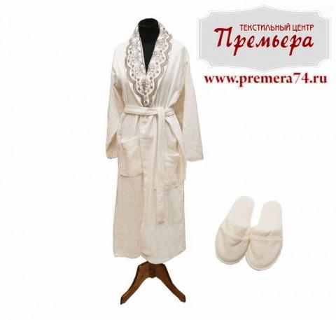 Набор: халат махровый мужской с тапочками