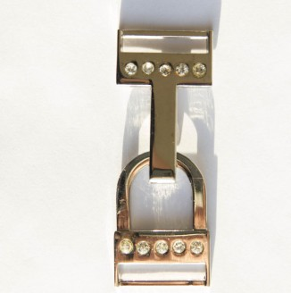 Крючок со стразами  (СКВ 2620, никель темный)