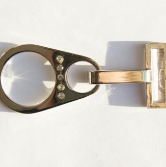 Крючок со стразами  (СКВ 2219, капля, никель)