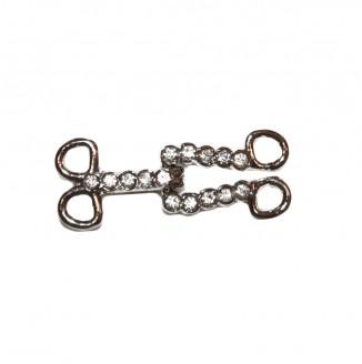 Крючок со стразами  (8976, серебро)