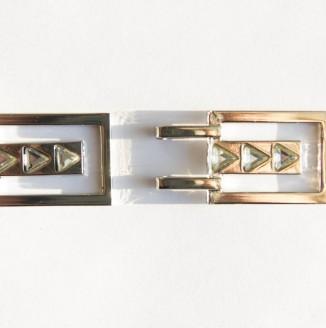 Крючок со стразами  (СКВ 2219, 14mm, никель темный)