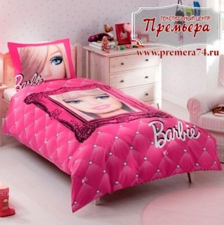 Покрывало и наволочка Barbie Fabulos