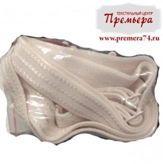 Бретели Италия (текстильный, 8мм, белый припыленный)