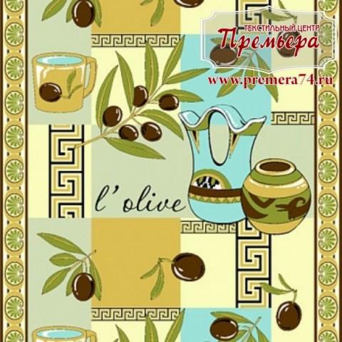 Вафельное полотно оливки