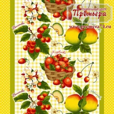 Вафельное полотно фрукты