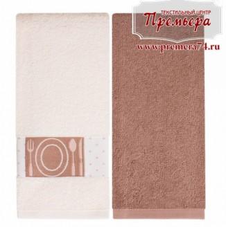Набор кухоных махровых полотенец Латте