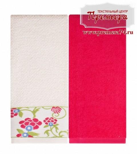 Набор кухонных махровых полотенец Малинка