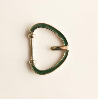 Пряжка металл (440001, треугольник, 20мм, зеленый темный)