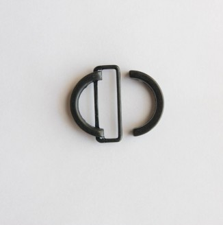 Пряжка металл (440004, круг, 18мм, черный)