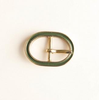 Пряжка металл (440002, овал, 18мм, зеленый темный)