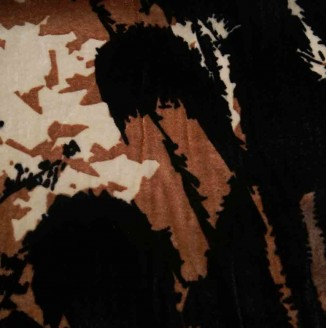 Бархат Италия 900= (Max Mara, пятна коричнево-бежевые, на черном фоне)