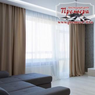 Прямые шторы для квартиры студии