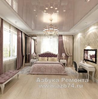 Спальня частного дома в стиле модерн