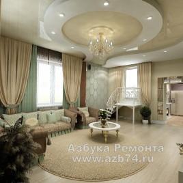 Гостиная частного дома