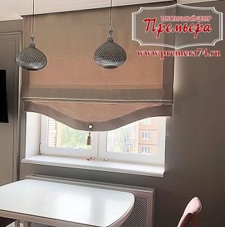 Текстильное оформление совмещенной кухни с гостиной